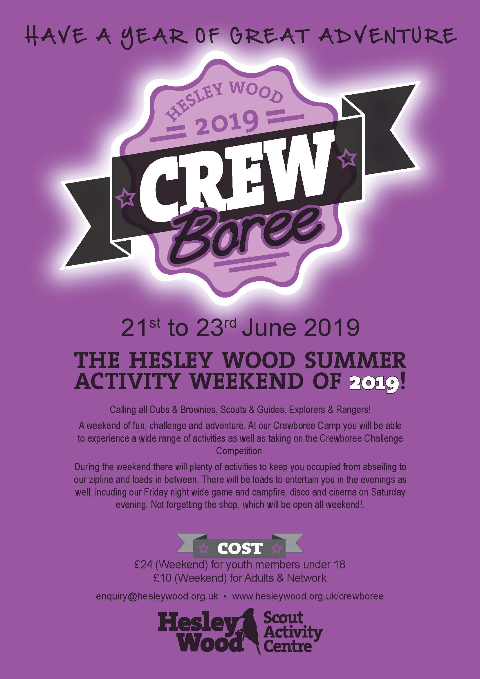 Crewboree 2019 Poster